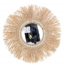 wholesale Decoration: Basket mirror Ohana to hang, D40cm, mirror D13c